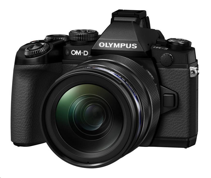 OLYMPUS E-M1 kit 12-50 černý/černý
