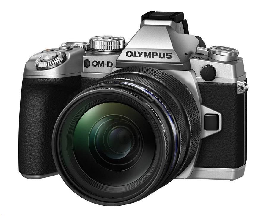 OLYMPUS E-M1 kit 12-50 stříbrný/černý