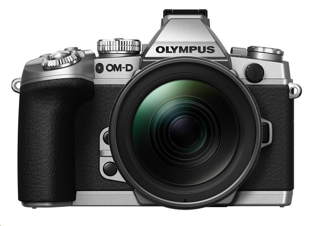 OLYMPUS E-M1 kit 12-40 1:2.8 stříbrný/černý