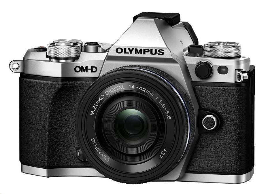 OLYMPUS E-M5 Mark II 1442 EZ kit stříbrný/černý
