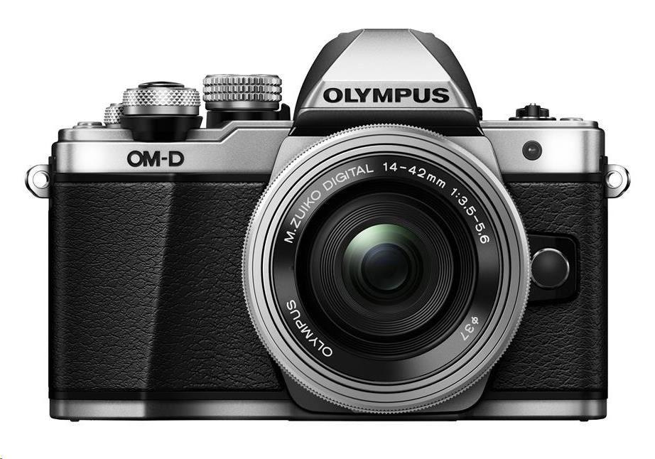 OLYMPUS E-M10 Mark II 1442 kit stříbrný/stříbrný