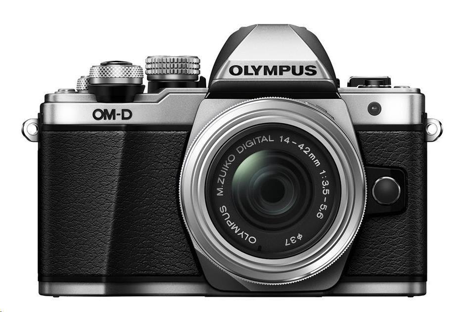 OLYMPUS E-M10 Mark II 1442 EZ kit stříbrný/stříbrný