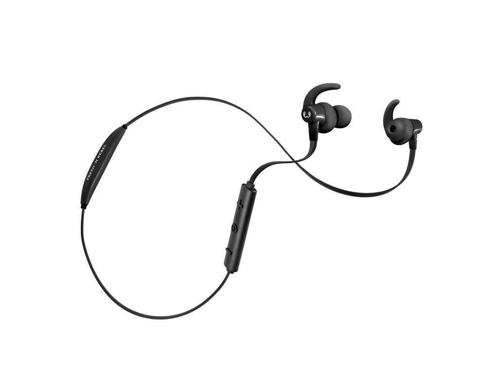 FRESH ´N REBEL Lace Sports Earbuds Bluetooth sluchátka, Ink, černá