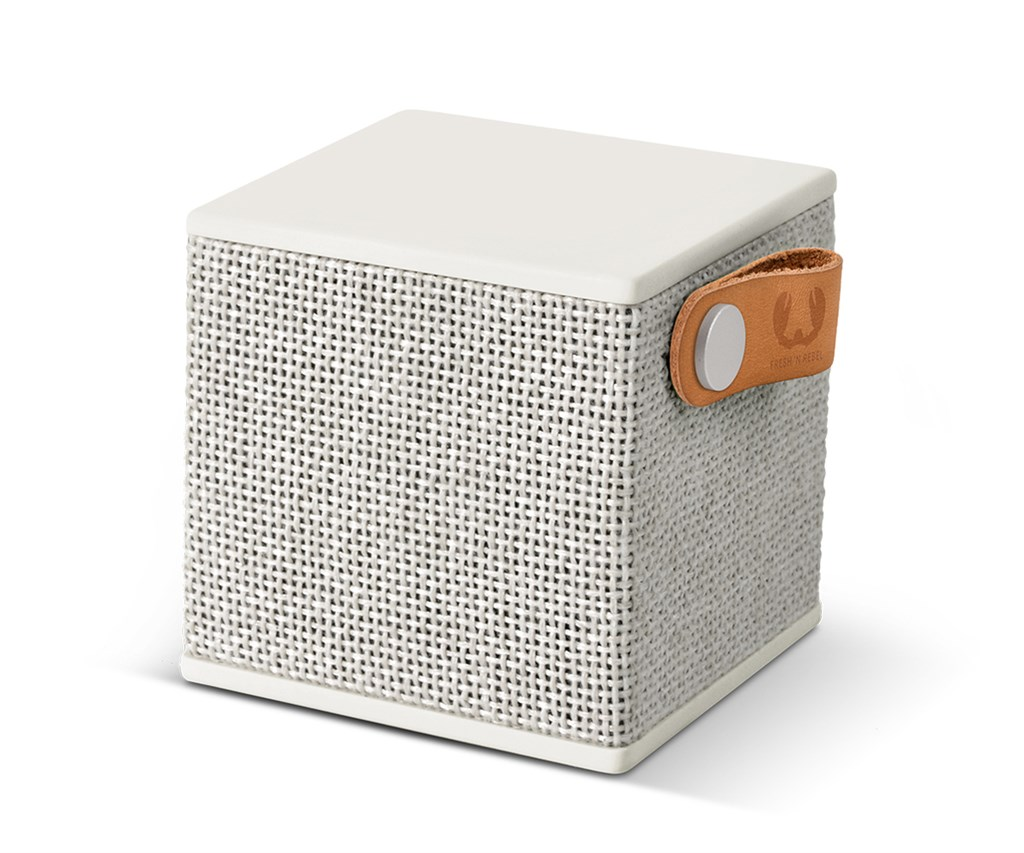 FRESH ´N REBEL Rockbox Cube Fabriq Edition Bluetooth reproduktor, Cloud, světle šedý