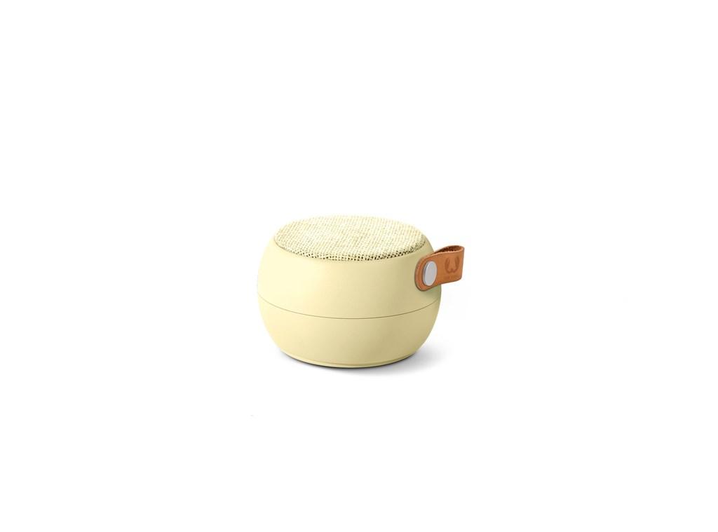 FRESH ´N REBEL Rockbox Round H2O Fabriq Edition Bluetooth reproduktor, světle žlutý