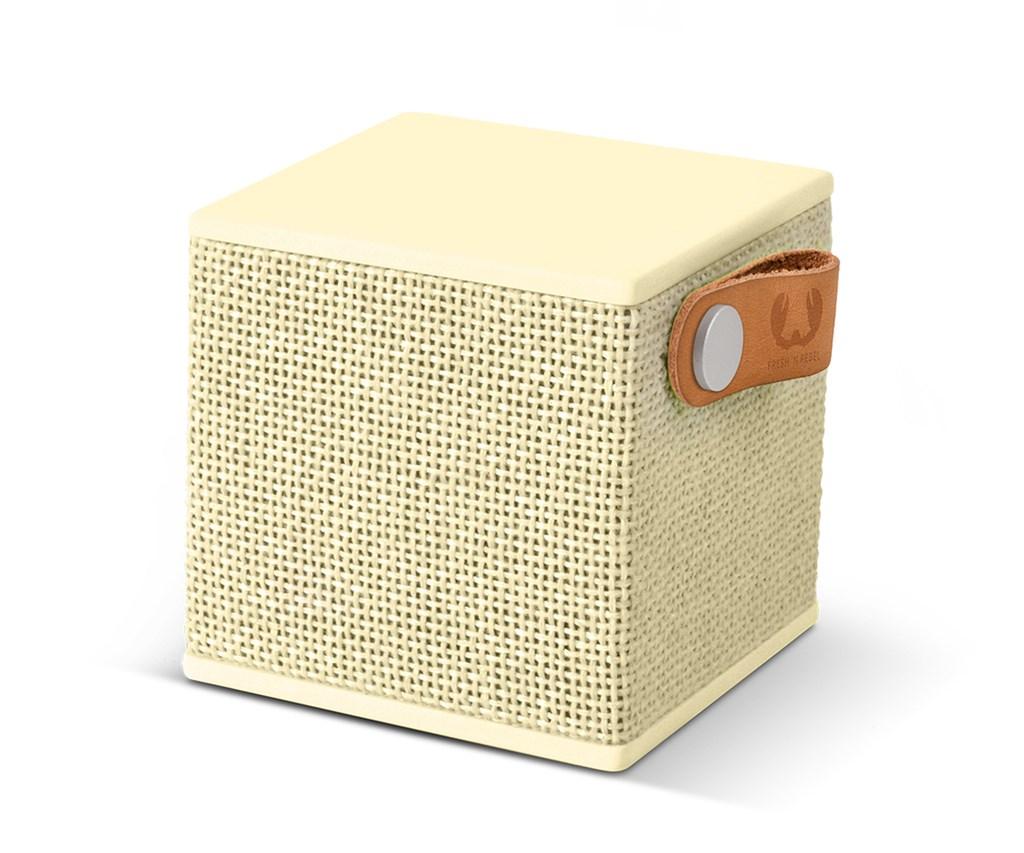 FRESH ´N REBEL Rockbox Cube Fabriq Edition Bluetooth reproduktor, Buttercup, světle žlutý