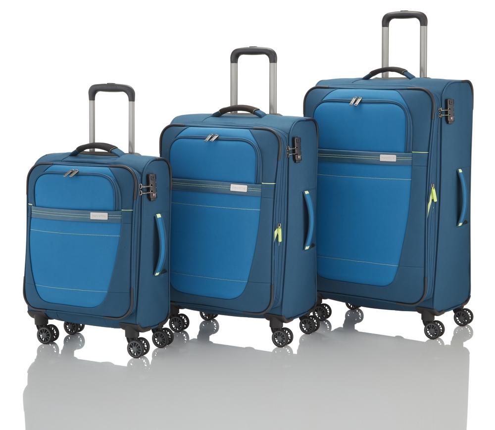 Travelite Meteor 4w S,M,L Petrol – sada 3 kufrů