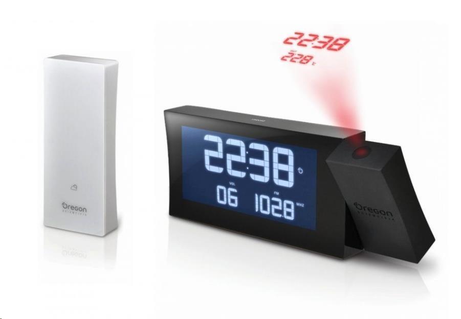 Oregon RRM222PBK PRYSMA - digitální budík s projekcí a FM radiopřijímačem