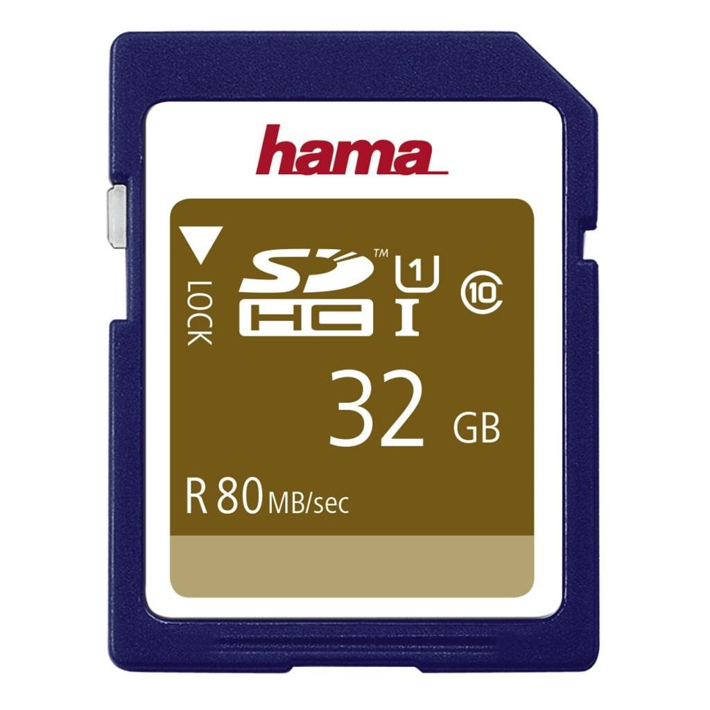 Hama SDHC 32 GB Class 10, UHS-I 80 MB/s