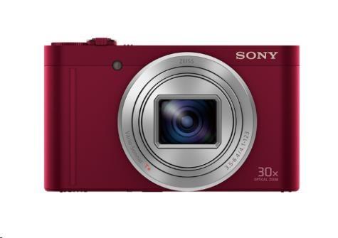 SONY DSC-WX500 Cyber-Shot 18,2 MPix, 30x zoom - červený