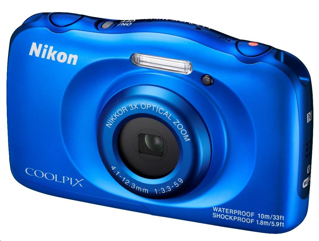 NIKON kompakt Coolpix W100, 13MPix, 3x zoom - modrý - Backpack kit