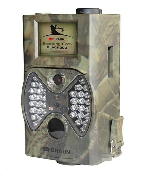 "BRAUN fotopast ScoutingCam Black 300 (5Mpx, SD, 2"" LCD, 36 Black IR LED do 20m)"