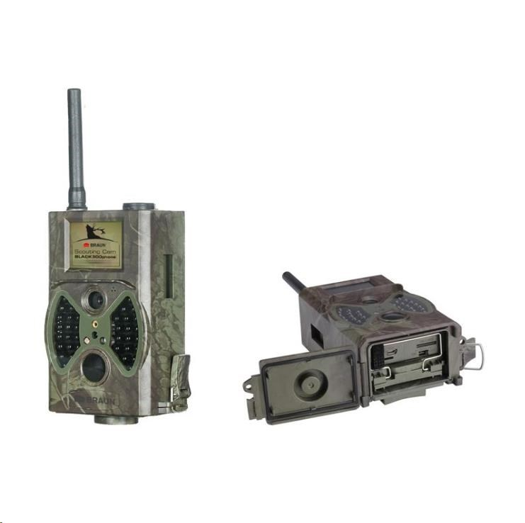 BRAUN fotopast ScoutingCam Black 300 phone (+ GSM MMS/E-mail, 2G, výkl.ant., 4 mobily)