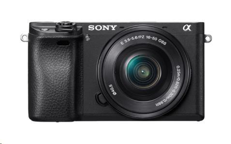 SONY Alfa 6300 fotoaparát, 24.2 MPix - tělo + 16-50mm - černé