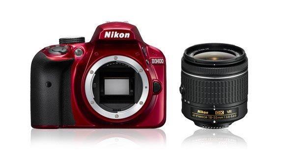 NIKON D3400 + AF-P 18-55 VR RED