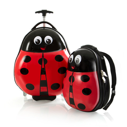 Heys Travel Tots Lightweight Kids Lady Bug – sada batohu a kufru