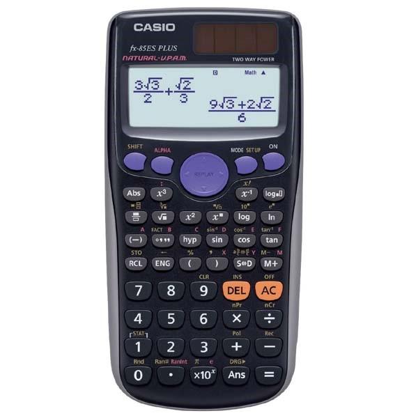 CASIO kalkulačka FX 85 ES Plus, černá, školní, desetimístná