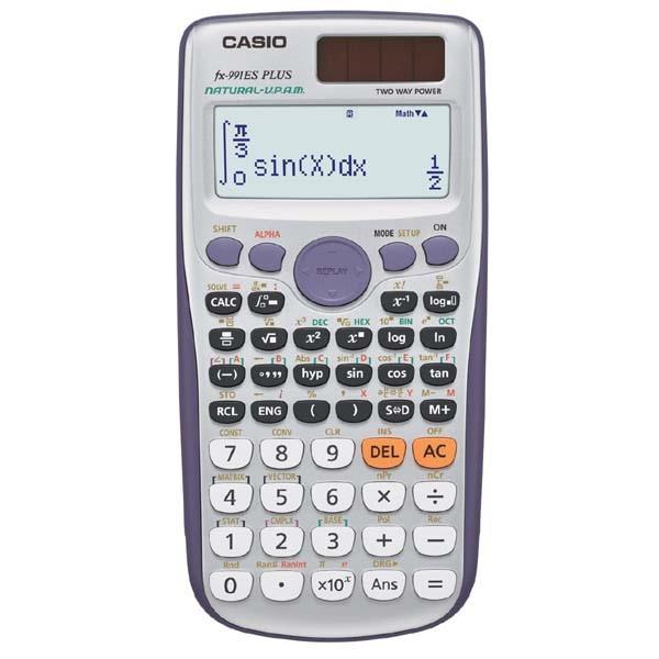 CASIO kalkulačka FX 991ES PLUS, stříbrná, školní, dvouřádková