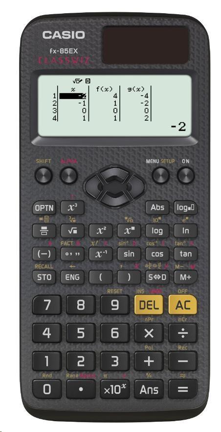 CASIO kalkulačka FX 85 EX, černá, školní/vědecká