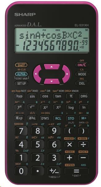 SHARP kalkulačka - EL531XHPKC - růžová