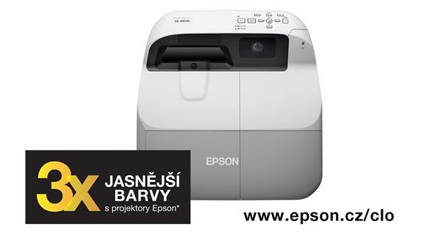 EPSON projektor EB-1420Wi, 1280x800, ST, 3300ANSI, 10000:1, HDMI, USB 3-in-1, REPRO 16W, LAN, interaktivní