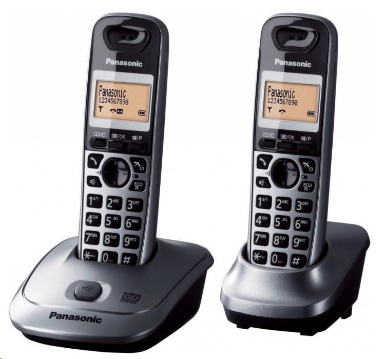 PANASONIC KX-TG2512FXT titanově černá Bezdrátový telefon podsvícený displej