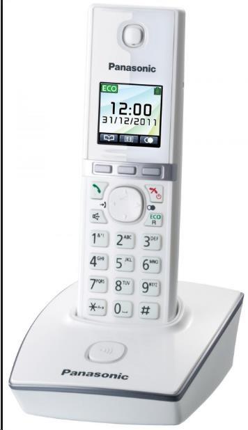 PANASONIC KX-TG8051FXW digitální bezdrátový telefon s barevným plně grafickým displejem, funkce SMS, GAP,