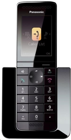 """PANASONIC KX-PRS110FXW prémiová řada, tenký a stylový, 2.2"""" barevný LCD displej, osvětlená klávesnice & LCD disple"""