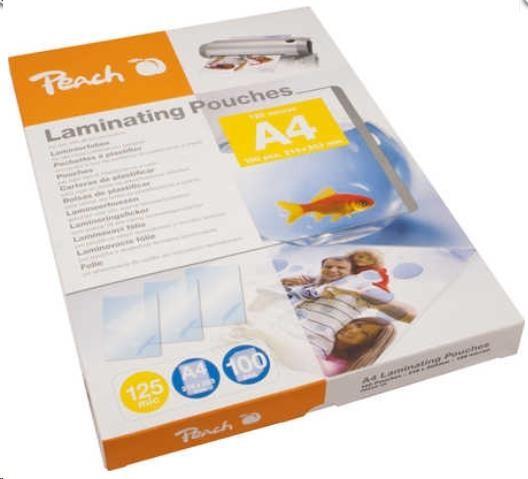 PEACH Laminovací fólie A4 (216x303mm), 125mic, 100pck/BAL