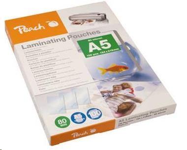 PEACH Laminovací fólie A5 (154x216mm), 80mic, 100pck/BAL PP580-03