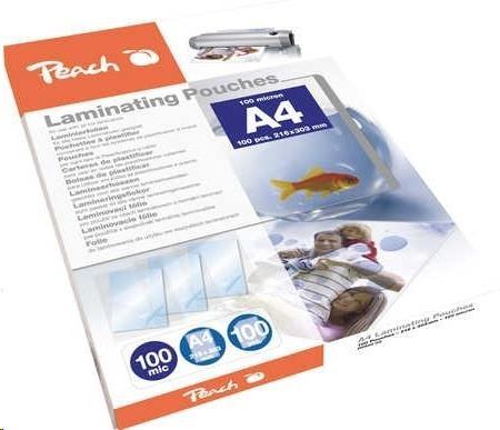 PEACH Laminovací fólie A4 (216x303mm), 100mic, 100pck/BAL (PP500-02)