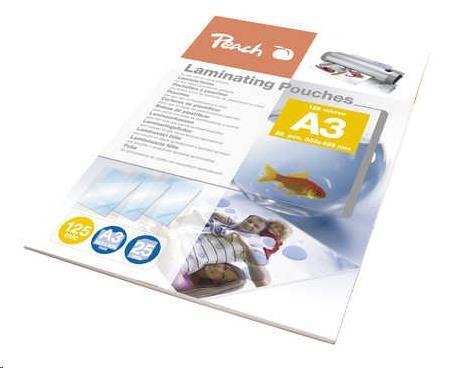 PEACH Laminovací fólie A3 (303x426mm), 125mic, PPR525-01, 25pck/BAL