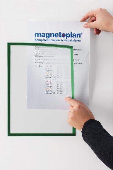 Magnetický rámeček Magnetofix A4 modrá (5ks)
