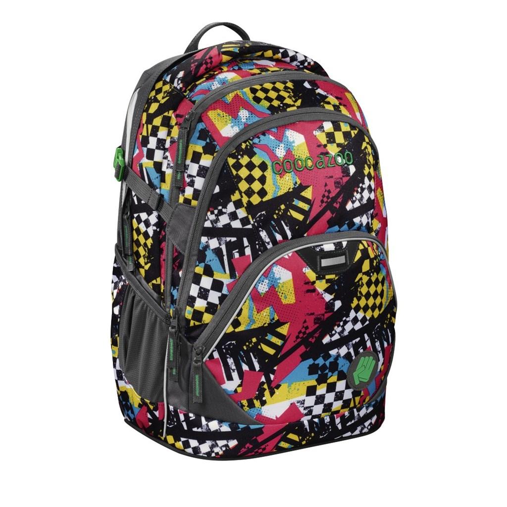 Školní batoh Coocazoo EvverClevver2, Checkered Bolts Blue
