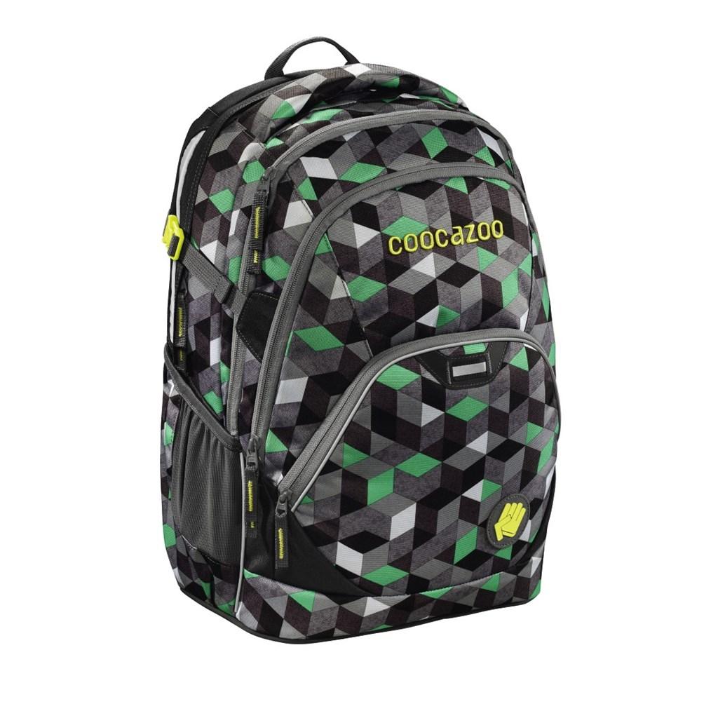 Školní batoh Coocazoo EvverClevver2, Crazy Cubes Green