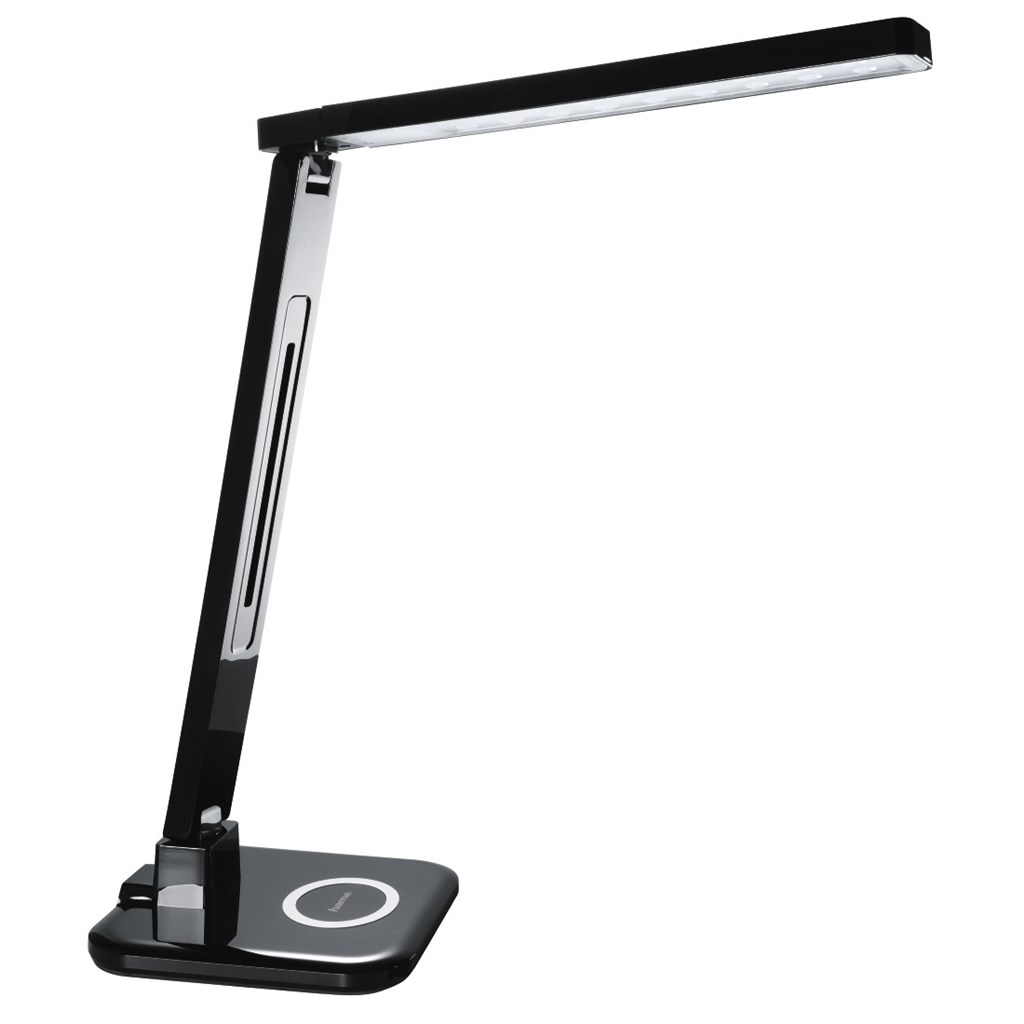 Hama SL 65 LED Desk Lamp, Qi charger/multi-colour/timer, black
