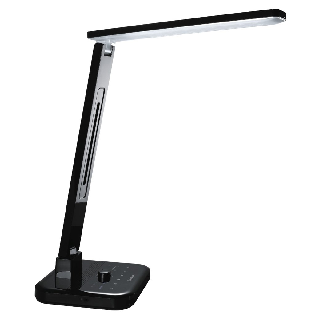 Hama SL 60 LED Desk Lamp, radio/Bluetooth/hands-free system/multi-colour