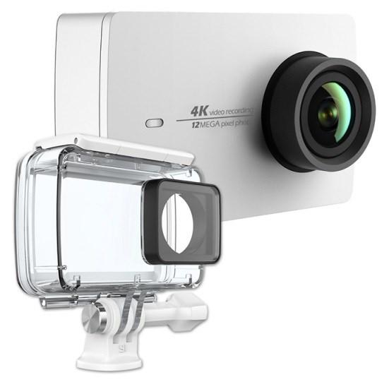 YI 4K Action Camera Kit - set, akční sportovní kamera, 4K rozlišení, bílá