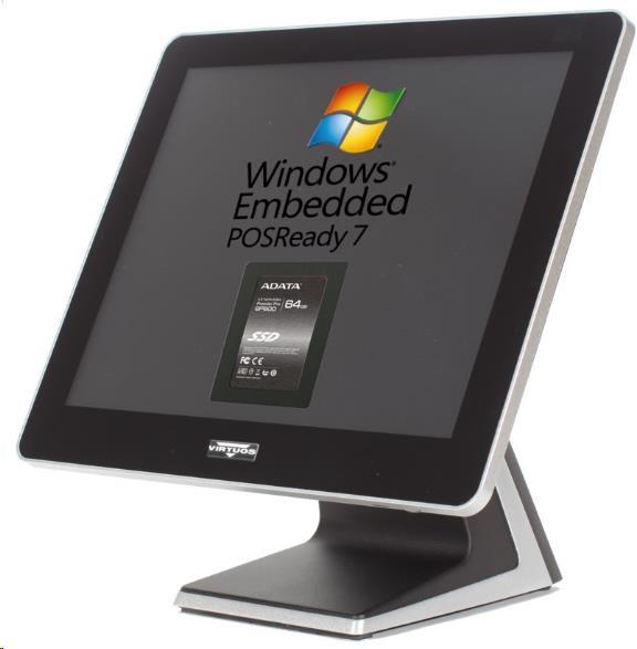 VIRTUOS PP-9635BV, 2GB, 120GB SSD, Win POSReady 7, bez rámečku, černý