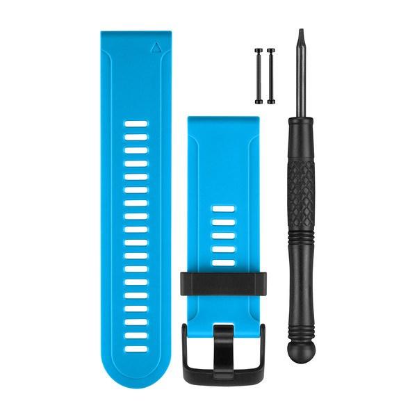 Garmin řemínek silikonový světle modrý pro fenix3 (fenix2, fenix, tactix, quatix, D2)