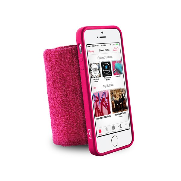 #Puro sportovní náramek s rámečkem pro iPhone 5/5S Pink - použité zboží