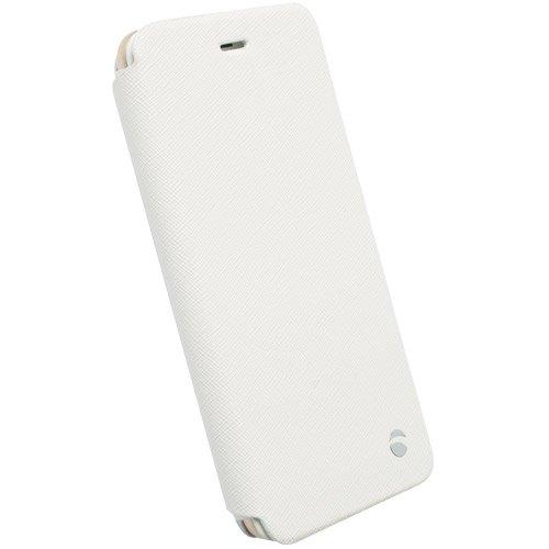 #Krusell flipové polohovací pouzdro MALMÖ FLIPCASE STAND pro Apple iPhone 6 Plus, bílá - použité