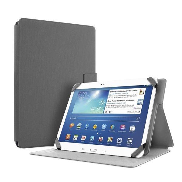 """#Puro stojánkové pouzdro s magnetem pro tablet 8,9"""", šedá - poškozený obal"""
