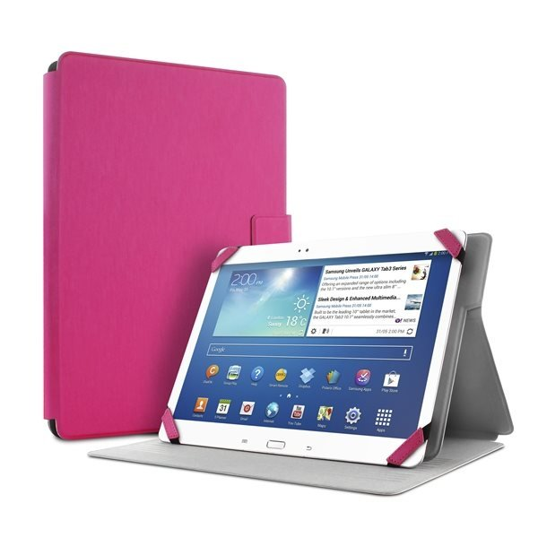 """#Puro stojánkové pouzdro s magnetem pro tablet 8,9"""", růžová - poškozený obal"""