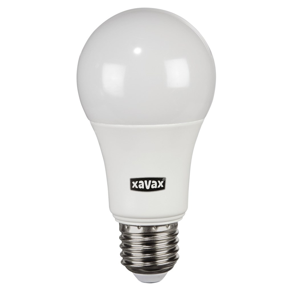 Xavax LED Bulb, 9.5W, bulb shape, E27, warm white, 2 pieces