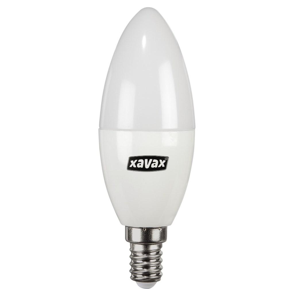 Xavax LED Bulb, 5.4W, candle shape, E14, warm white, 2 pieces
