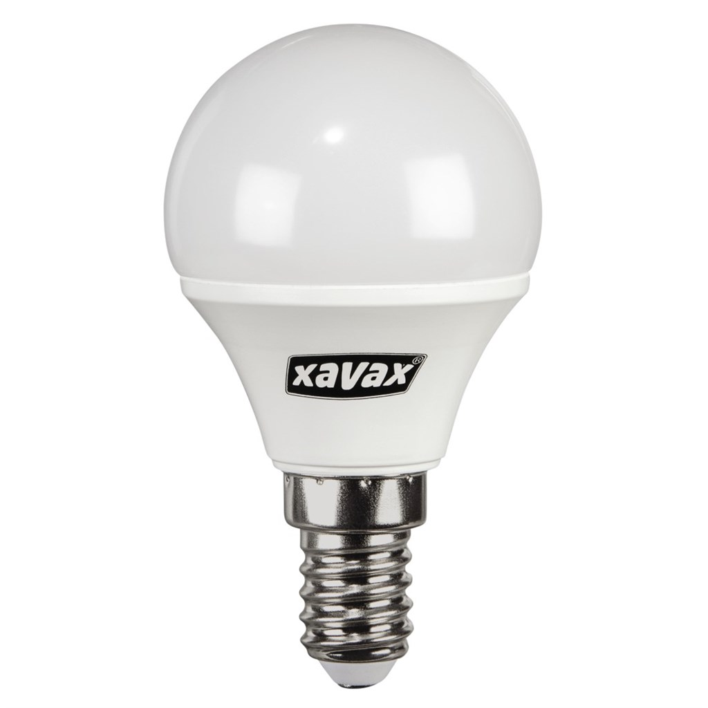 Xavax LED Bulb, 5.4W, drop shape, E14, warm white, 2 pieces