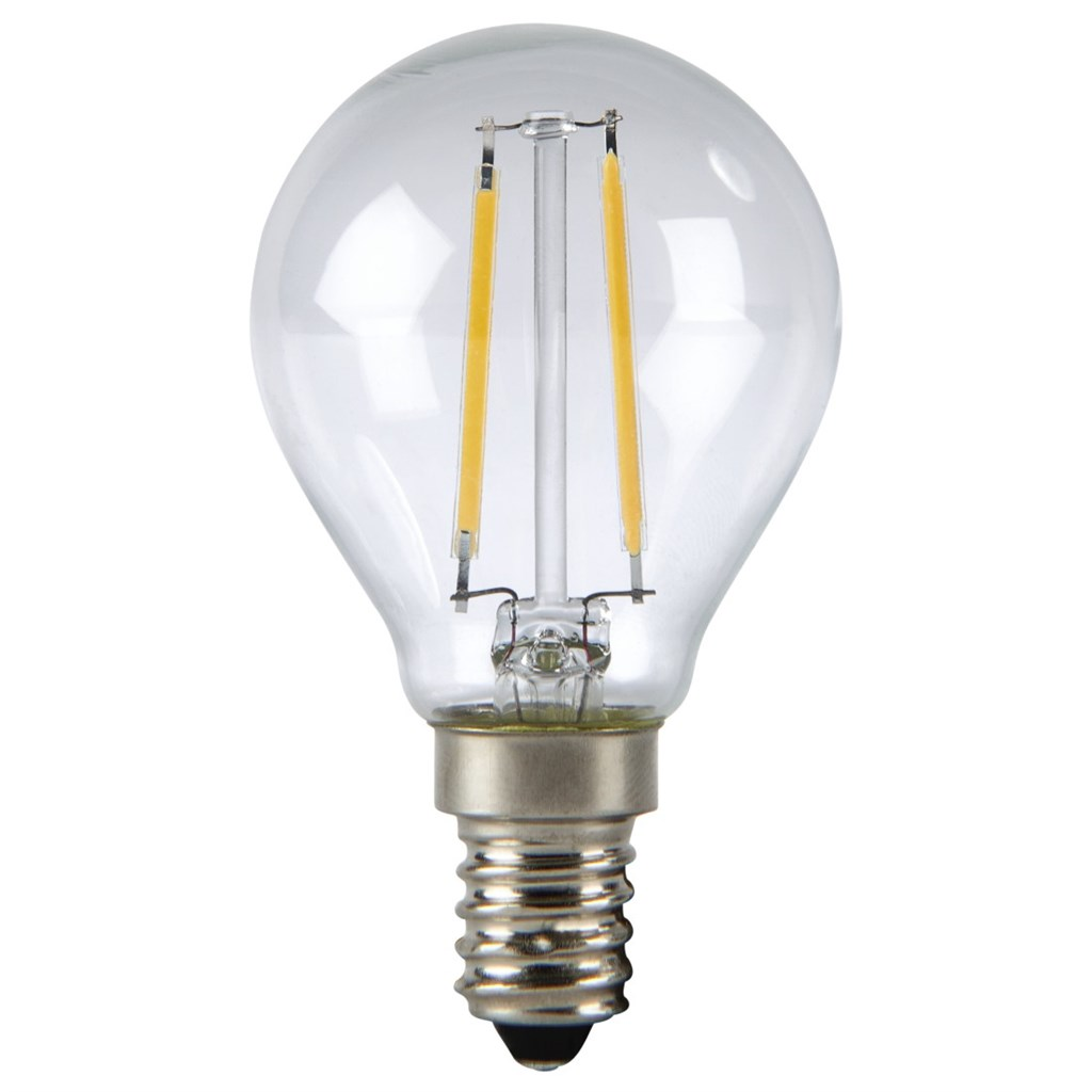 Xavax LED Lamp, 2W, drop shape, filament, E14, warm white
