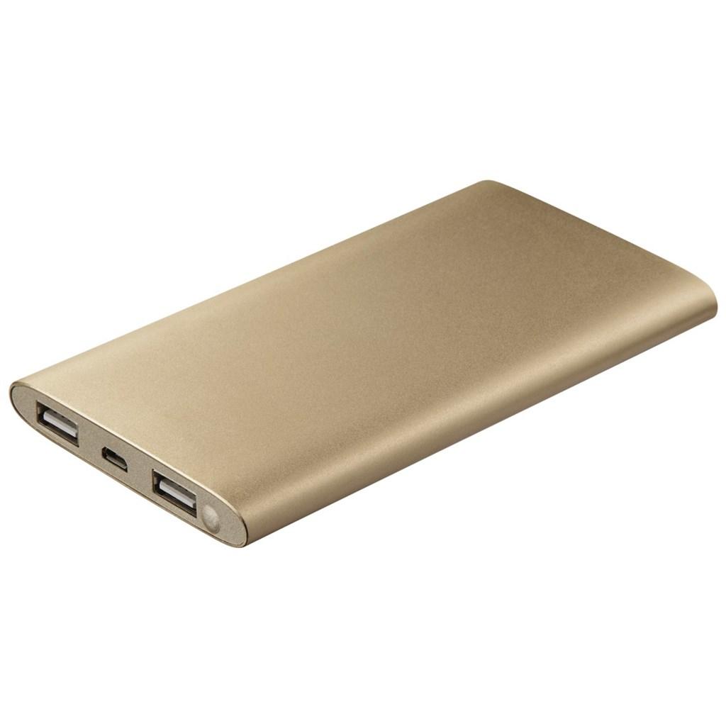 Hama Premium Alu Power Pack, 8000 mAh, gold