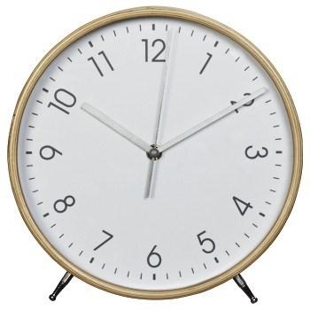 Hama HG-220, dřevěné stolní hodiny, tichý chod, bílé